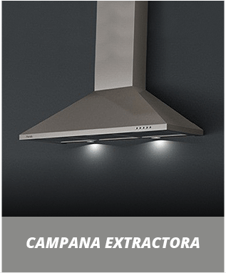 campana extractora en acero inoxidable